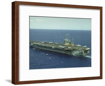 Uss Nimitz, Aircraft Carrier, Off VA--Framed Premium Photographic Print