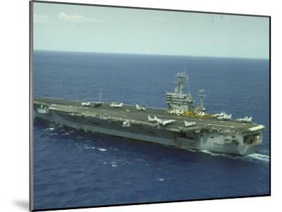 Uss Nimitz, Aircraft Carrier, Off VA--Mounted Premium Photographic Print
