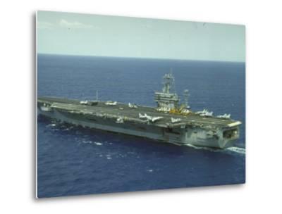 Uss Nimitz, Aircraft Carrier, Off VA--Metal Print