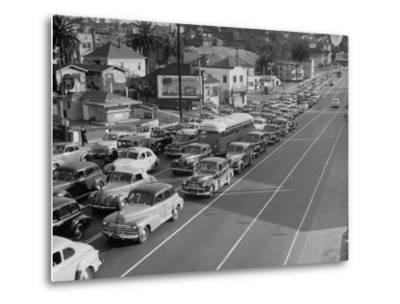 Los Angeles Traffic-Loomis Dean-Metal Print