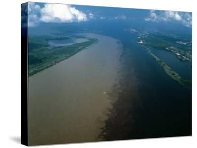 Brazil - Amazonas - Amazon River and Negro River--Stretched Canvas Print