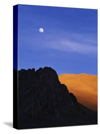 China, Tibet, Moon over the Tibetan Plateau-Keren Su-Stretched Canvas Print