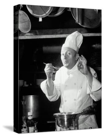Chef Tasting Food, Ok Sign, 1942-Lambert-Stretched Canvas Print