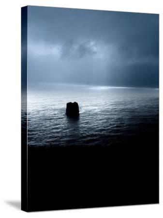 Panoramic View of a Sea, Dyrholaey, Iceland--Stretched Canvas Print