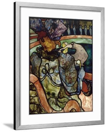 """""""Au nouveau cirque, Papa Chrysanthème""""-Henri de Toulouse-Lautrec-Framed Giclee Print"""