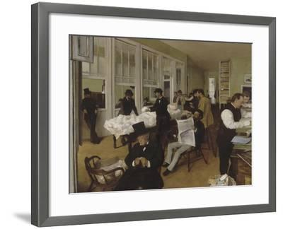 Un bureau de coton à la Nouvelle-Orléans-Edgar Degas-Framed Giclee Print