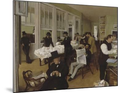 Un bureau de coton à la Nouvelle-Orléans-Edgar Degas-Mounted Giclee Print