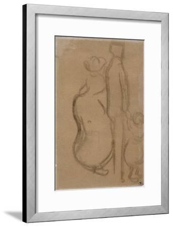 A Couple with a Child Holding Hands with His Father-Vincent van Gogh-Framed Giclee Print