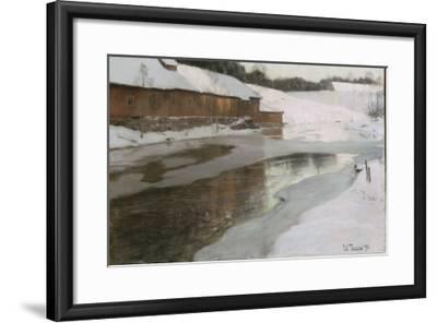 Une fabrique en Norvège-Fritz Thaulow-Framed Giclee Print