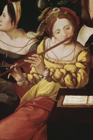 """""""L'enfant prodigue chez les courtisanes"""" dit aussi """"Allégorie des cinq sens""""--Stretched Canvas Print"""