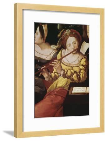 """""""L'enfant prodigue chez les courtisanes"""" dit aussi """"Allégorie des cinq sens""""--Framed Giclee Print"""