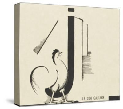 """""""le coq gaulois""""dessin d'Edward Steichen--Stretched Canvas Print"""