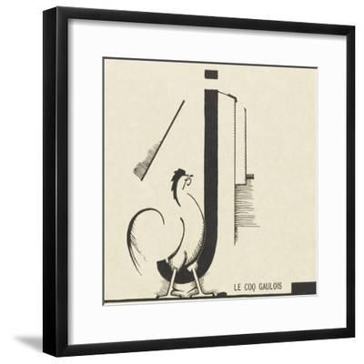 """le coq gaulois""dessin d'Edward Steichen--Framed Giclee Print"