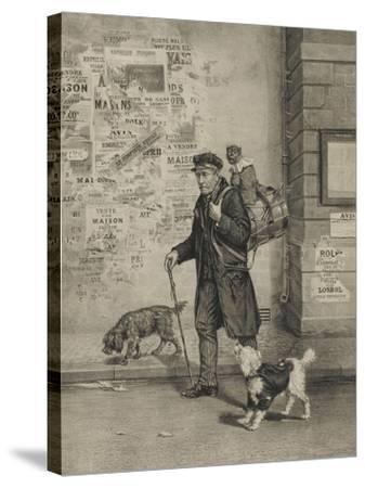 Un directeur et sa troupe--Stretched Canvas Print