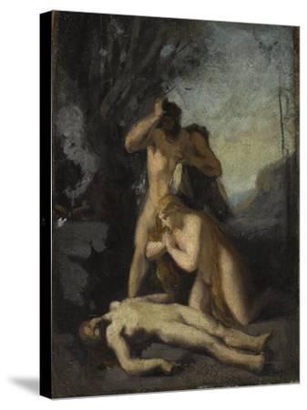 Adam et Eve trouvant le corps d'Abel-Jean Jacques Henner-Stretched Canvas Print
