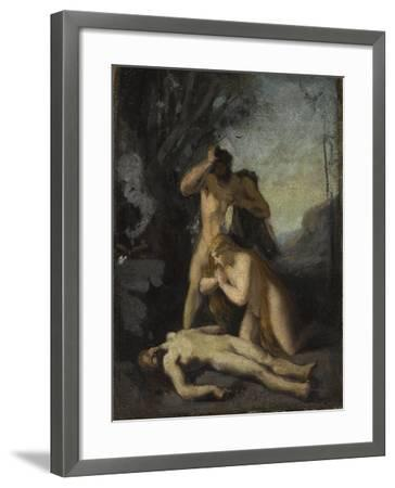Adam et Eve trouvant le corps d'Abel-Jean Jacques Henner-Framed Giclee Print