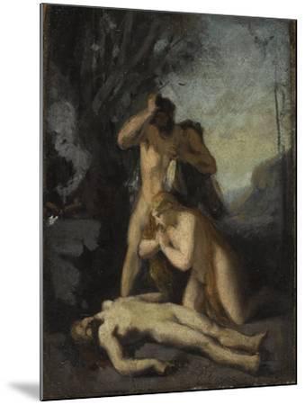 Adam et Eve trouvant le corps d'Abel-Jean Jacques Henner-Mounted Giclee Print