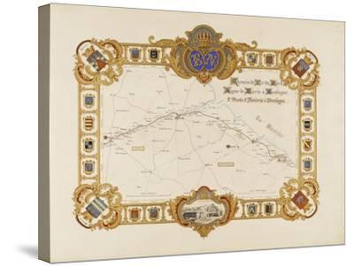 Album relié: Itinéraire et vues du chemin de fer du Nord-Edouard Denis Baldus-Stretched Canvas Print