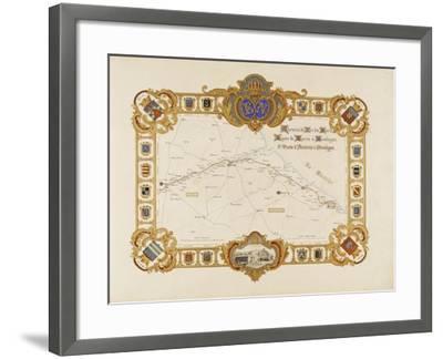 Album relié: Itinéraire et vues du chemin de fer du Nord-Edouard Denis Baldus-Framed Giclee Print