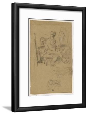 Album des Fiançailles : L'Artiste écoute la musique qui l'inspire--Framed Giclee Print