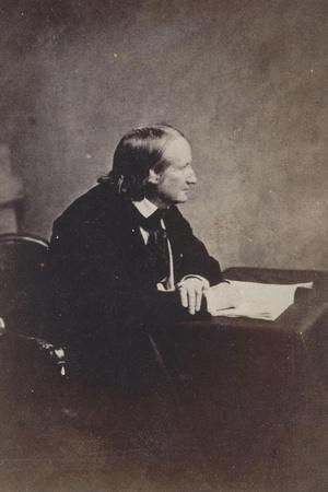 Alfred de Vigny, Académie française en 1845-Gustave Le Gray-Stretched Canvas Print