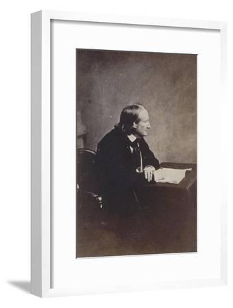 Alfred de Vigny, Académie française en 1845-Gustave Le Gray-Framed Giclee Print
