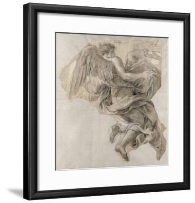 Ange emportant l'Arche d'alliance-Charles Le Brun-Framed Giclee Print