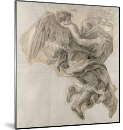 Ange emportant l'Arche d'alliance-Charles Le Brun-Mounted Giclee Print