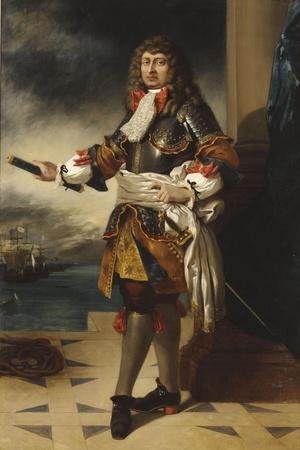 Anne-Hilarion de Costentin, comte de Tourville, maréchal de France (1642-1701)-Eugene Delacroix-Stretched Canvas Print