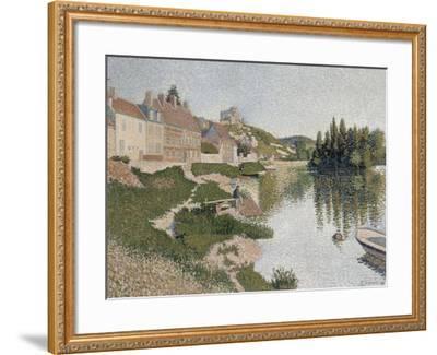 Les Andelys, la berge-Paul Signac-Framed Giclee Print