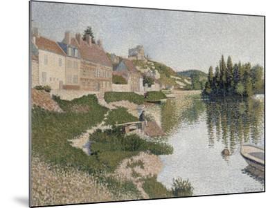 Les Andelys, la berge-Paul Signac-Mounted Giclee Print