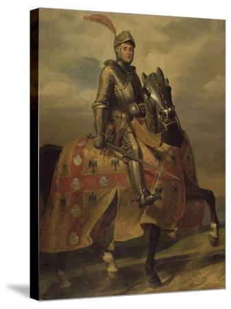 André de Montfort de Laval, seigneur de Loheac, amiral en 1437, Maréchal de France en 1439-Eloi Firmin Feron-Stretched Canvas Print