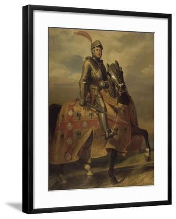 André de Montfort de Laval, seigneur de Loheac, amiral en 1437, Maréchal de France en 1439-Eloi Firmin Feron-Framed Giclee Print