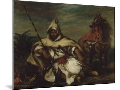 Un arabe-Eugene Delacroix-Mounted Giclee Print