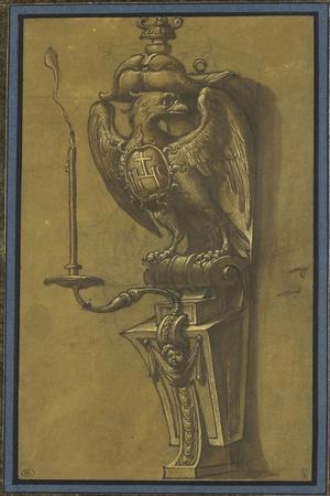 Console supportant un candélabre-Jacopo Ligozzi-Stretched Canvas Print