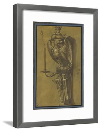 Console supportant un candélabre-Jacopo Ligozzi-Framed Giclee Print
