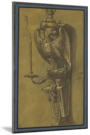Console supportant un candélabre-Jacopo Ligozzi-Mounted Giclee Print