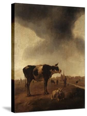 Vaches, moutons et berger-Paulus Potter-Stretched Canvas Print