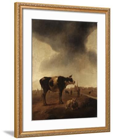 Vaches, moutons et berger-Paulus Potter-Framed Giclee Print