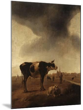 Vaches, moutons et berger-Paulus Potter-Mounted Giclee Print