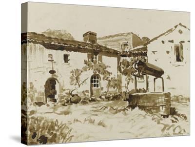 Cour à Rouchereau--Stretched Canvas Print