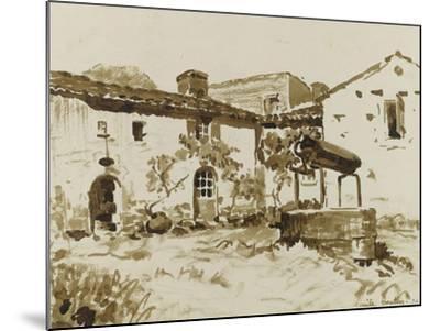 Cour à Rouchereau--Mounted Giclee Print