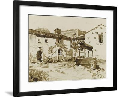Cour à Rouchereau--Framed Giclee Print