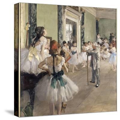 La classe de danse-Edgar Degas-Stretched Canvas Print