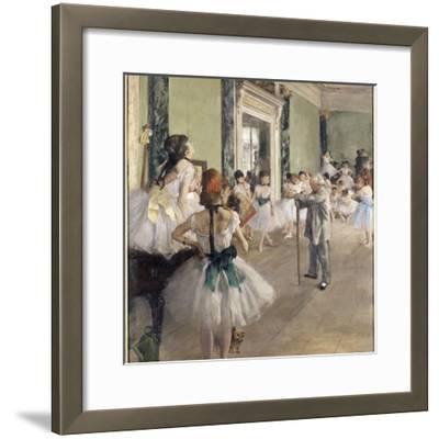 La classe de danse-Edgar Degas-Framed Giclee Print