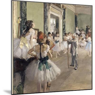 La classe de danse-Edgar Degas-Mounted Giclee Print