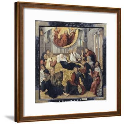 Death of the Virgin Mary - St. Matthew and St. Mark-Hugo Van Der Goes-Framed Giclee Print