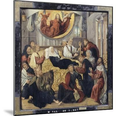 Death of the Virgin Mary - St. Matthew and St. Mark-Hugo Van Der Goes-Mounted Giclee Print