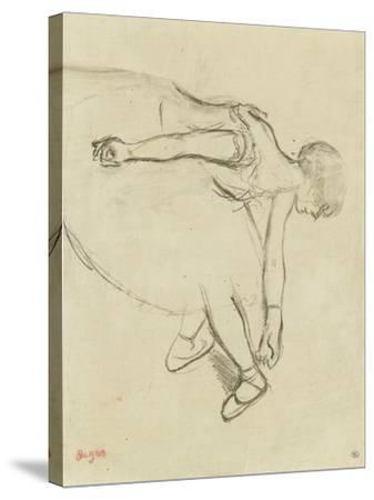 Danseuse en quatrième position-Edgar Degas-Stretched Canvas Print