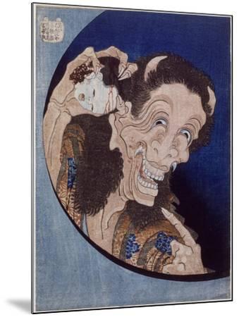 Démon riant-Katsushika Hokusai-Mounted Giclee Print